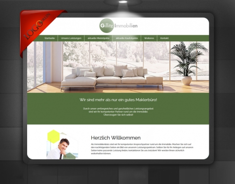 Immobilien Makler Homepage